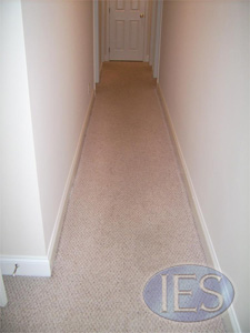 Soiled hall carpet before carpet cleaning - Calvert County
