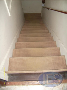 Stairway carpet after carpet cleaning - Calvert County Dunkirk Maryland