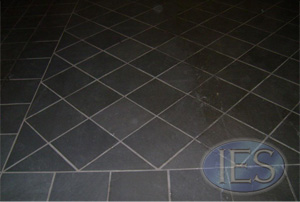 slate floor during cleaning
