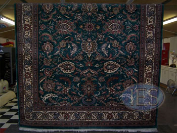 Oriental Rug after cleaning, hanging to dry - Calvert County Dunkirk MD