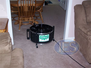 Indoor Environmental Services uses highspeed drying methods as a part of our standard carpet cleaning service.
