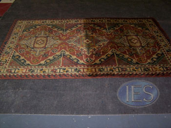 Oriental Rug During Cleaning