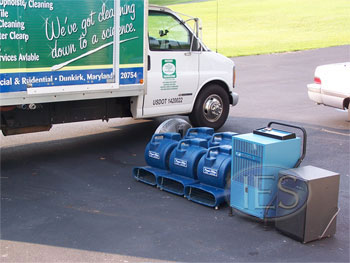 Air Movers & Dehumidifiers used in water damage