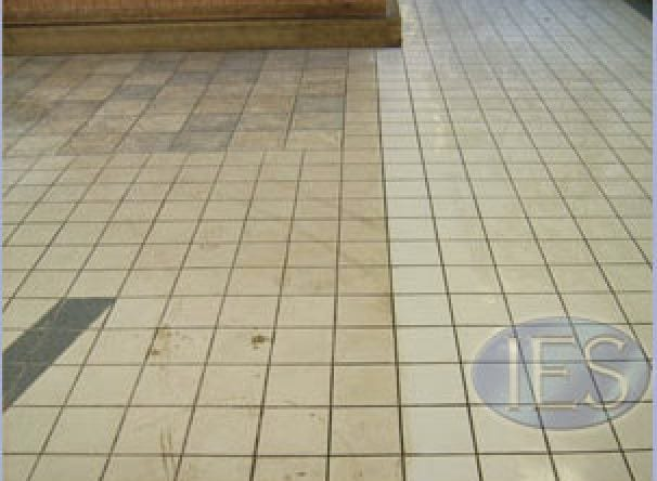Commercial Ceramic Tile & Grout During Cleaning Process2