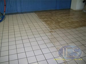 Commercial Tile & Grout During Cleaning