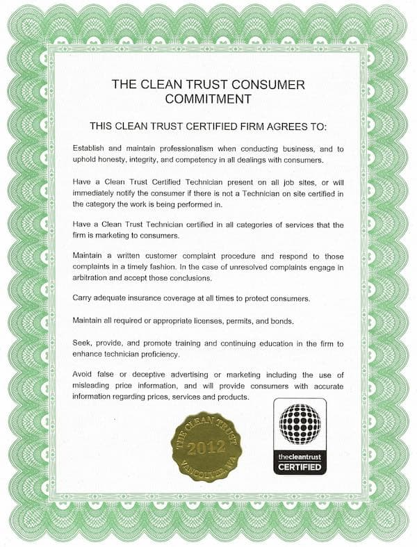 clean trust committment