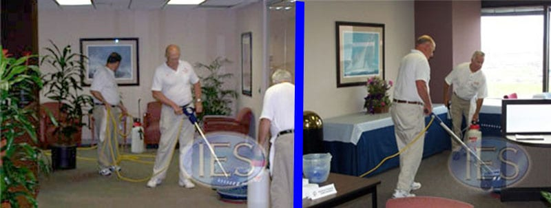 commercial carpet cleaning crew