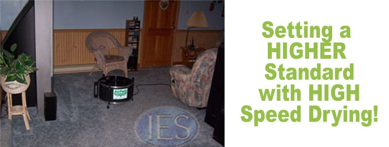 Setting a higher standard in carpet cleaning with high speed drying