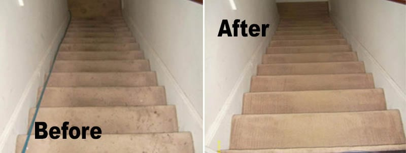 Stairway Carpet Cleaning